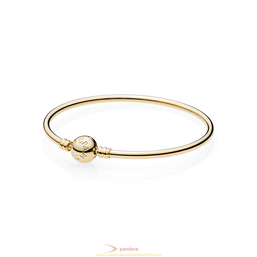 Find Pandora Jewelry Pandora Collections 14K Gold Bangle W Signature Clasp