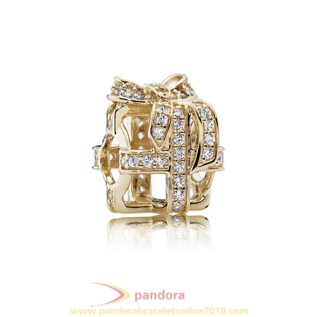 Find Pandora Jewelry Pandora Collections All Wrapped Up Charm Clear Cz 14K Gold