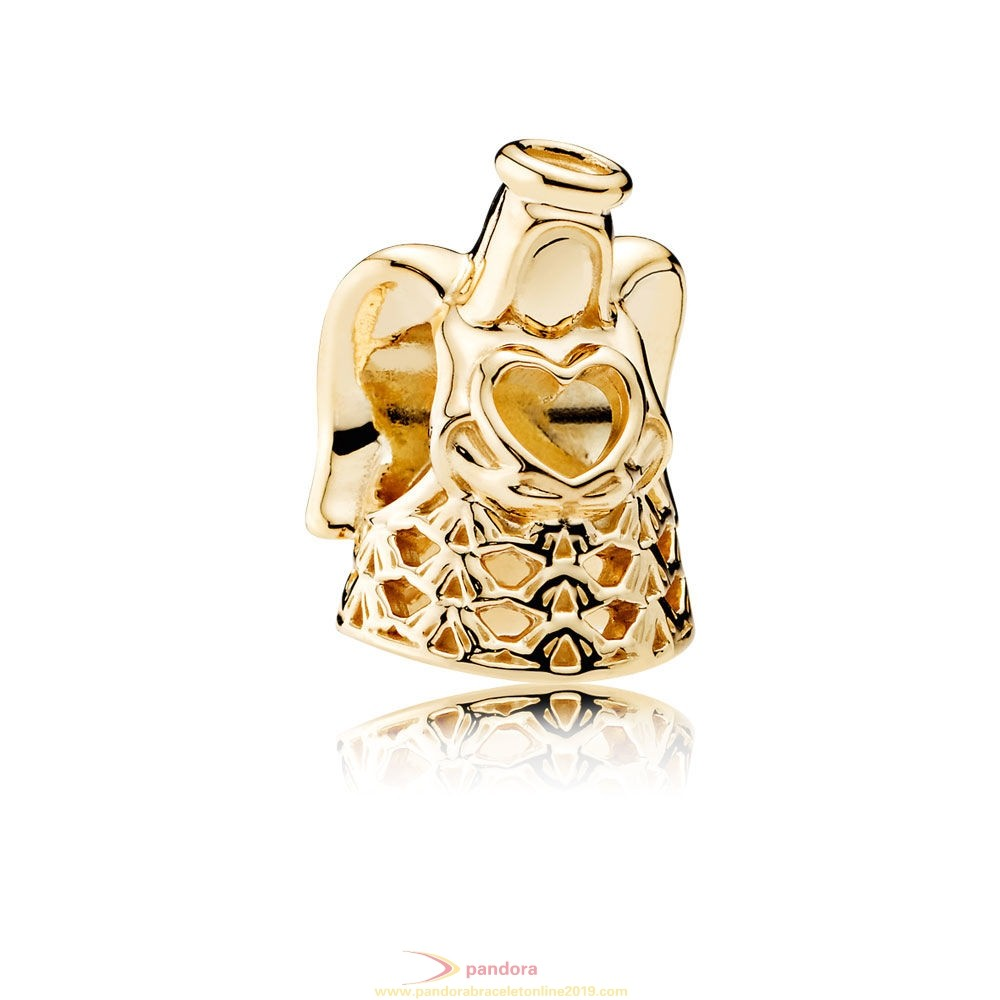 Find Pandora Jewelry Pandora Collections Angel Of Grace Charm 14K Gold