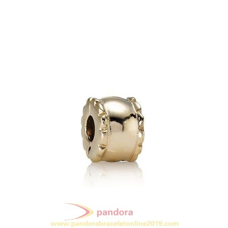 Find Pandora Jewelry Pandora Collections Beveled Clip 14K Gold