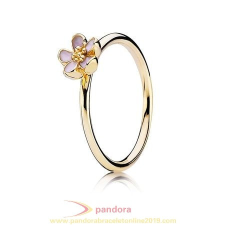 Find Pandora Jewelry Pandora Collections Cherry Blossom Stackable Ring Pink 14K Gold