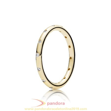Find Pandora Jewelry Pandora Collections Droplets Ring Polished 14K Gold Cz