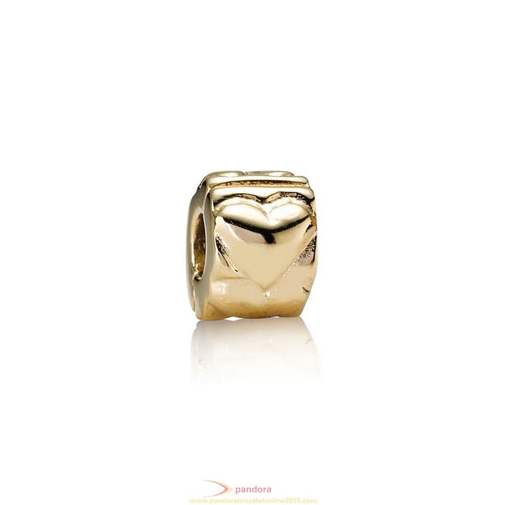 Find Pandora Jewelry Pandora Collections Heart Clip 14K Gold