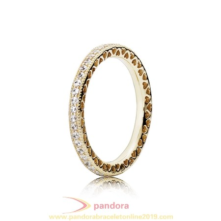 Find Pandora Jewelry Pandora Collections Hearts Of Pandora Ring Clear Cz 14K Gold
