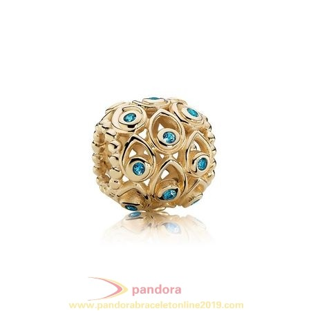 Find Pandora Jewelry Pandora Collections Ocean Treasures Charm Deep Blue Topaz 14K Gold