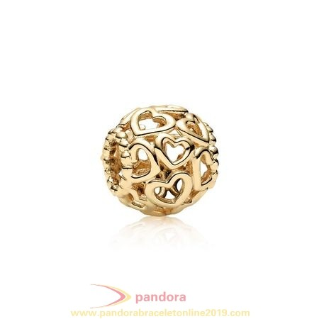 Find Pandora Jewelry Pandora Collections Open Your Heart Charm 14K Gold