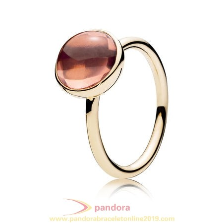 Find Pandora Jewelry Pandora Collections Poetic Droplet Ring 14K Gold Blush Pink Crystal