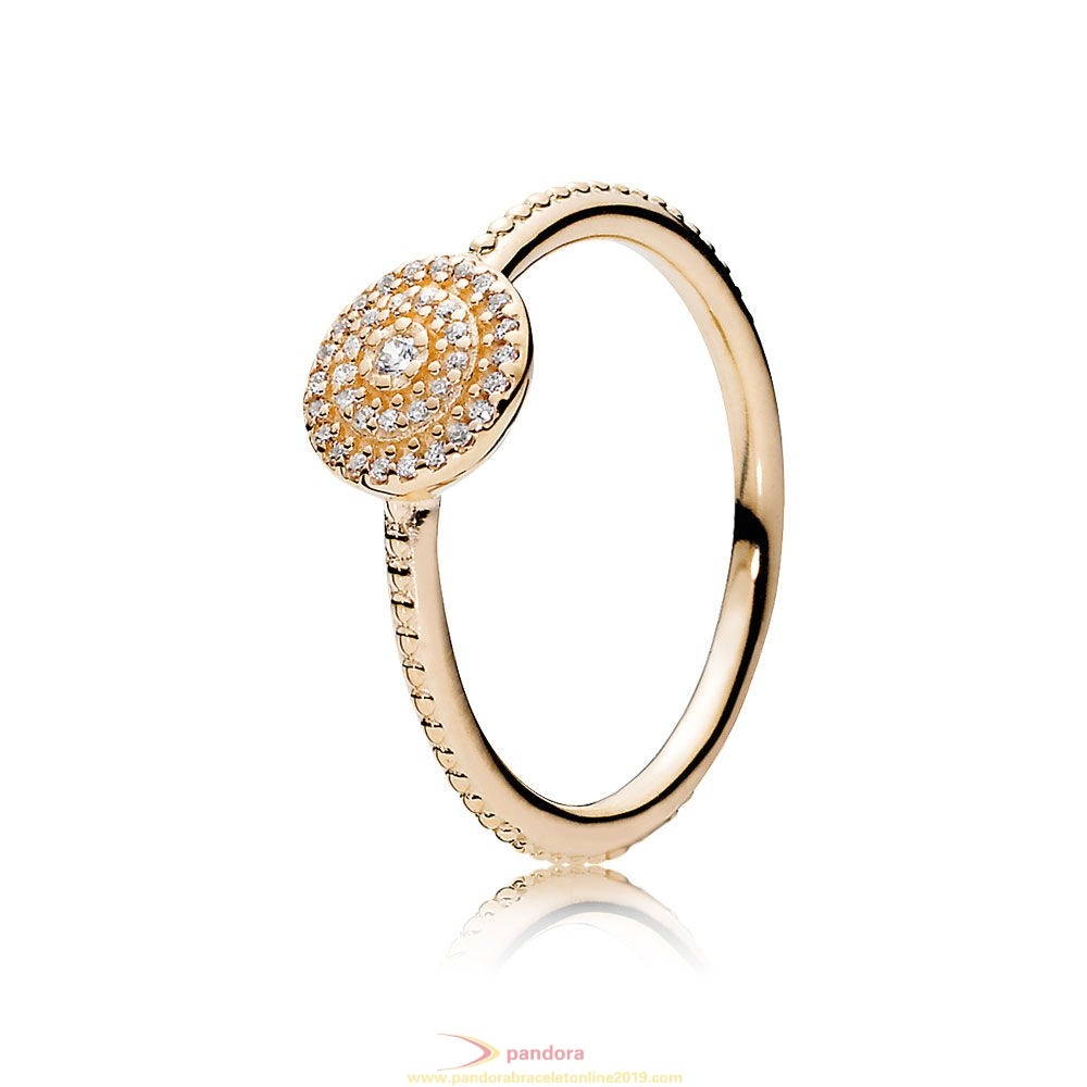 Find Pandora Jewelry Pandora Collections Radiant Elegance Ring 14K Gold Clear Cz