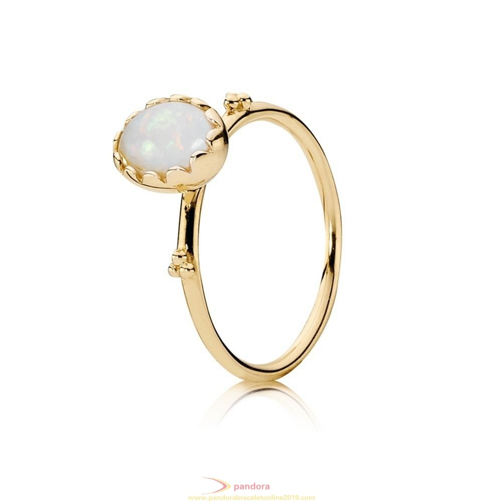 Find Pandora Jewelry Pandora Collections Soft Sweetness Ring White Opal 14K Gold