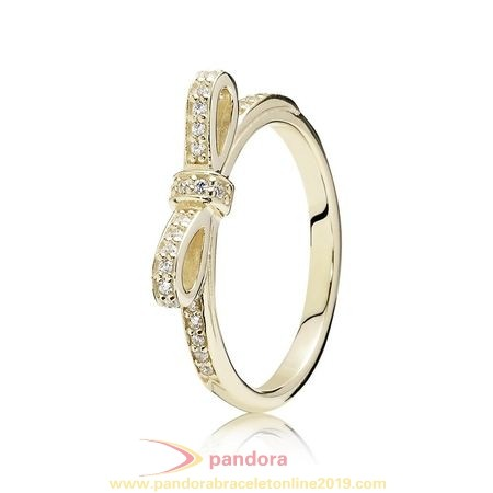 Find Pandora Jewelry Pandora Collections Sparkling Bow Ring Clear Cz 14K Gold