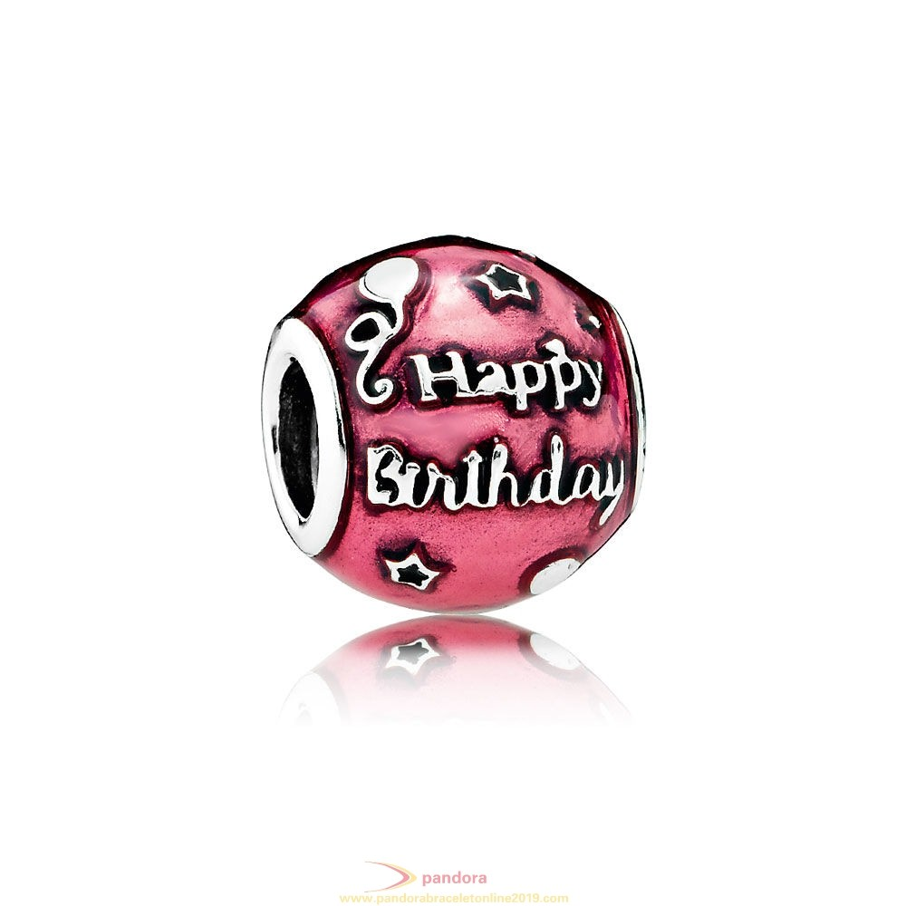 Find Pandora Jewelry Pandora Birthday Charms Birthday Celebration Charm Transparent Cerise Enamel