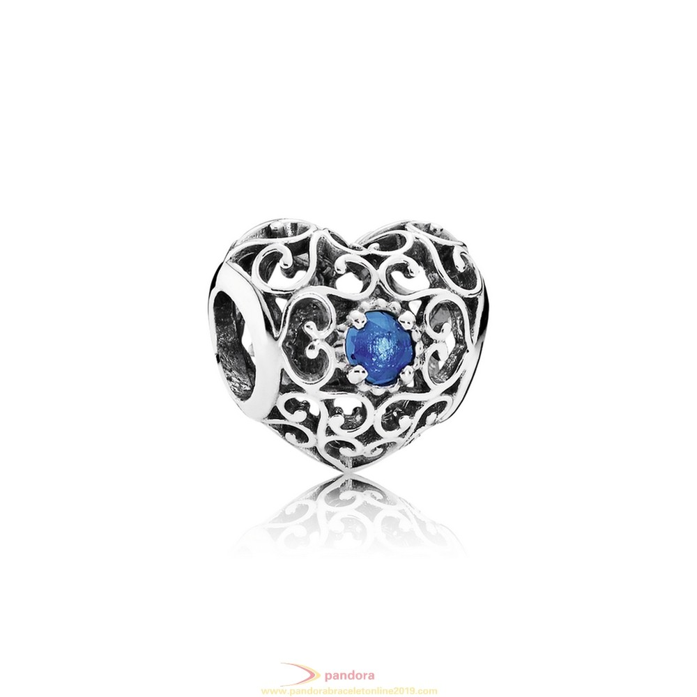 Find Pandora Jewelry Pandora Birthday Charms December Signature Heart Charm London Blue Crystal