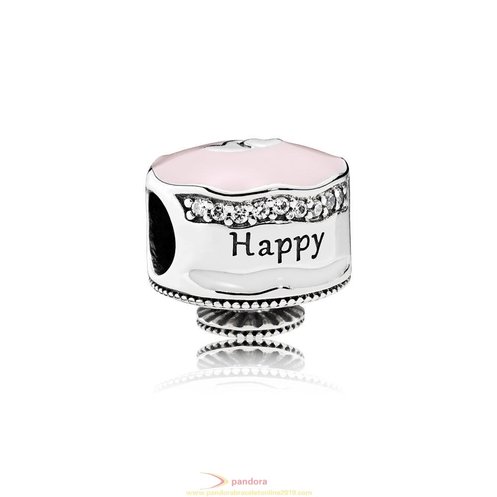 Find Pandora Jewelry Pandora Birthday Charms Happy Birthday Cake Charm Mixed Enamel Clear Cz
