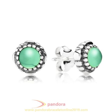 Find Pandora Jewelry Pandora Earrings Birthday Blooms Stud Earrings May Chrysoprase