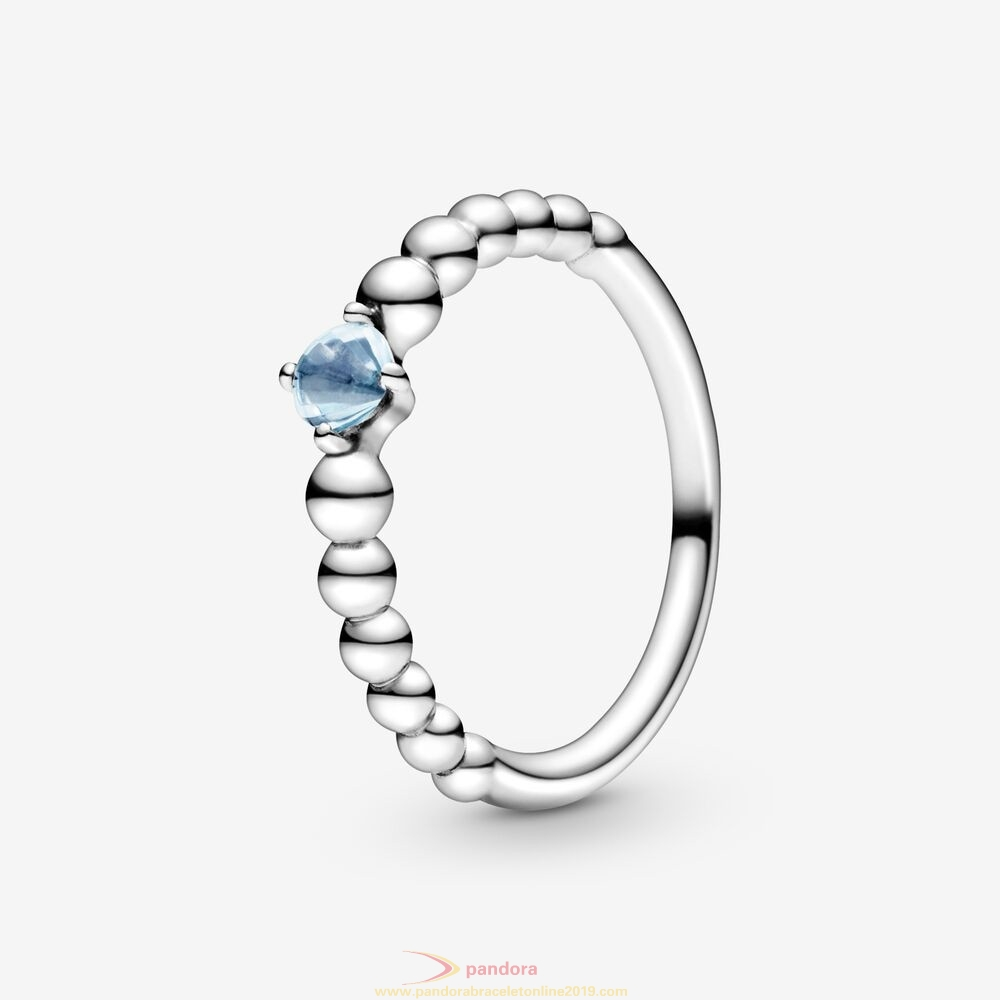 Find Pandora Jewelry Aqua Blue Beaded Ring
