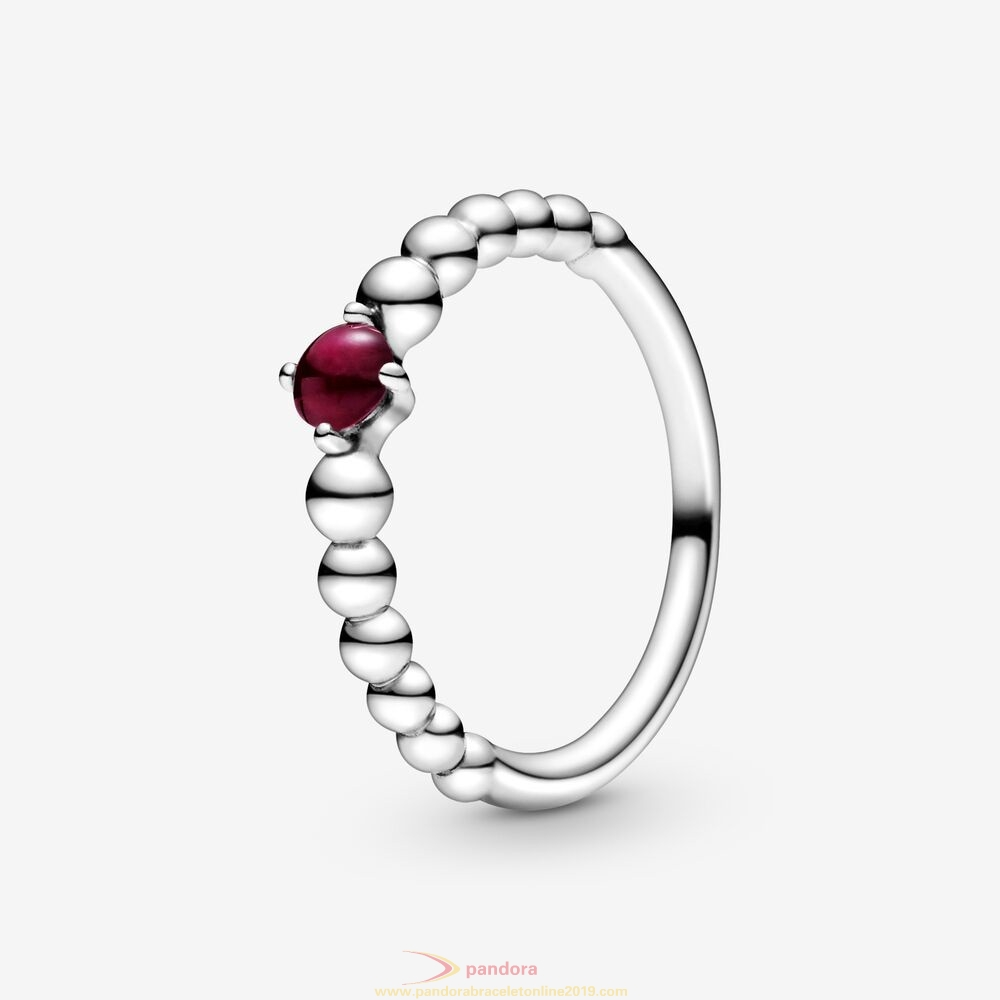 Find Pandora Jewelry Dark Red Beaded Ring