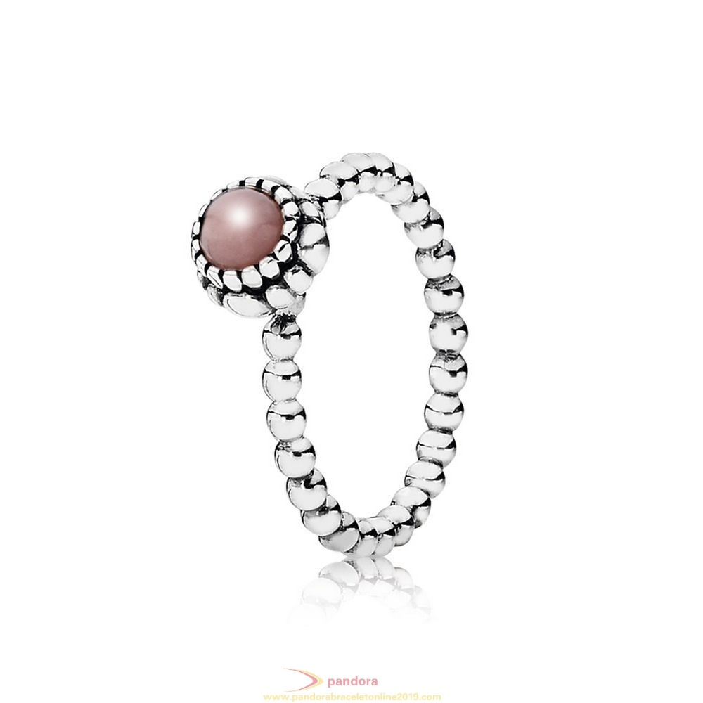 Find Pandora Jewelry Pandora Rings Birthday Blooms Ring October Pink Opal