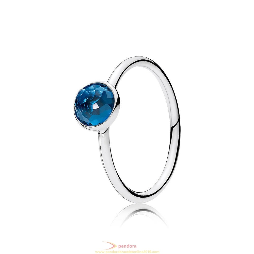 Find Pandora Jewelry Pandora Rings December Droplet Ring London Blue Crystal