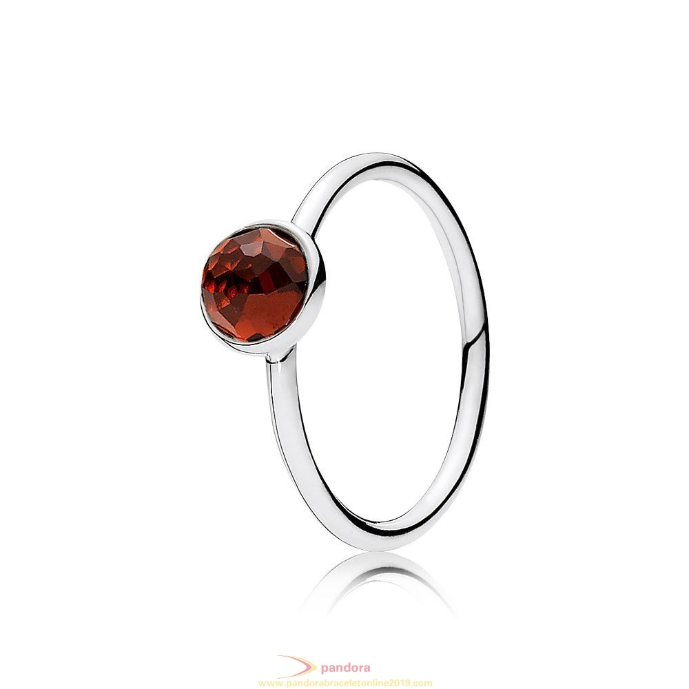 Find Pandora Jewelry Pandora Rings January Droplet Ring Garnet