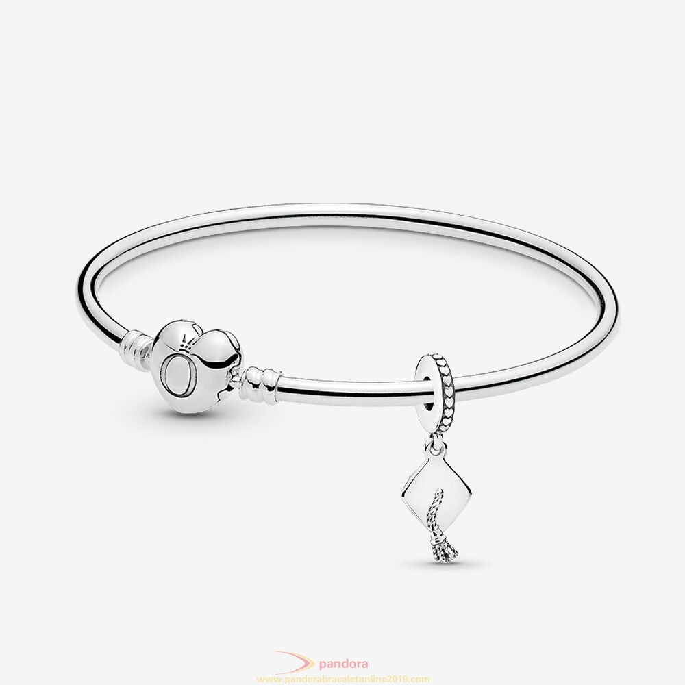 Find Pandora Jewelry Graduate Of The Year Bangle & Charm Gift Set