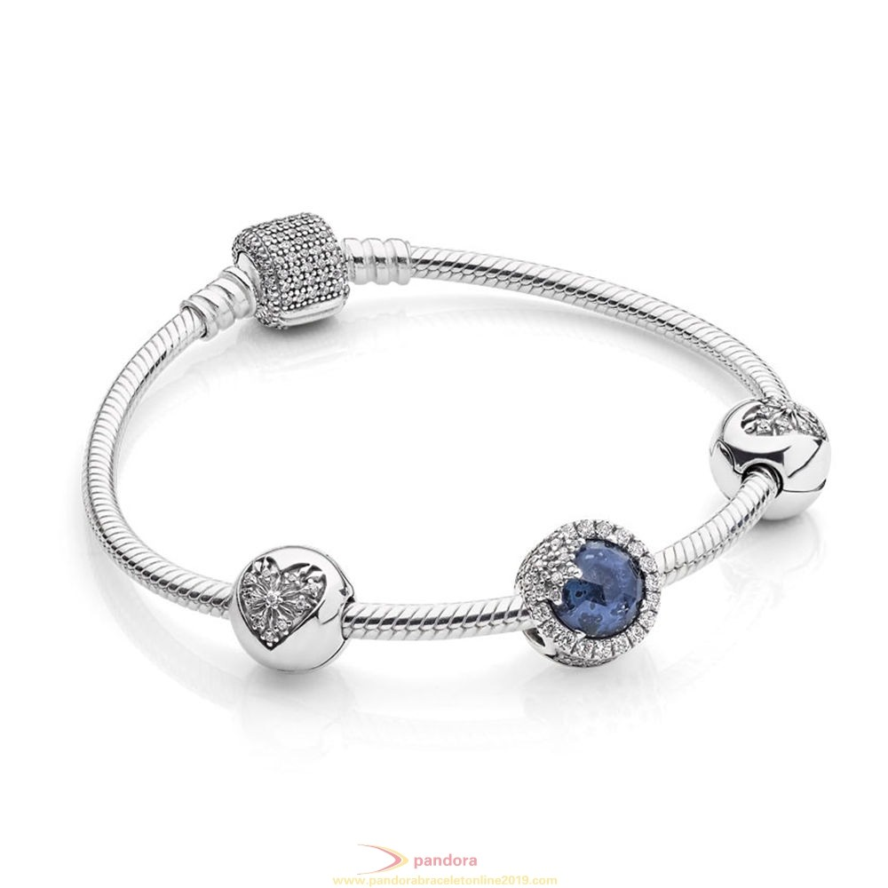Find Pandora Jewelry Pandora Holiday Gift Winter Collection Dazzling Snowflake Bracelet Gift Set
