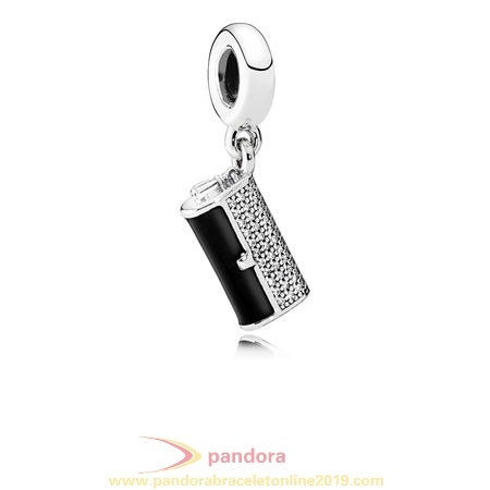 Find Pandora Jewelry Pandora Passions Charms Chic Glamour Clutch Bag Pendant Charm Black Enamel Clear Cz