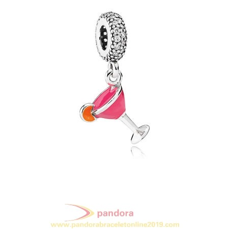 Find Pandora Jewelry Pandora Passions Charms Chic Glamour Fruity Cocktail Pendant Charm Mixed Enamel Clear Cz