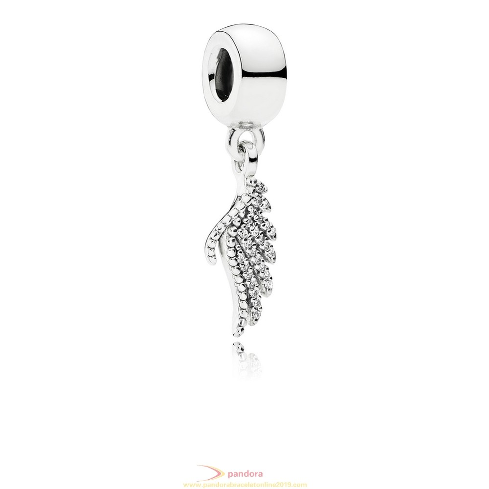 Find Pandora Jewelry Pandora Passions Charms Chic Glamour Majestic Feather Pendant Charm Clear Cz