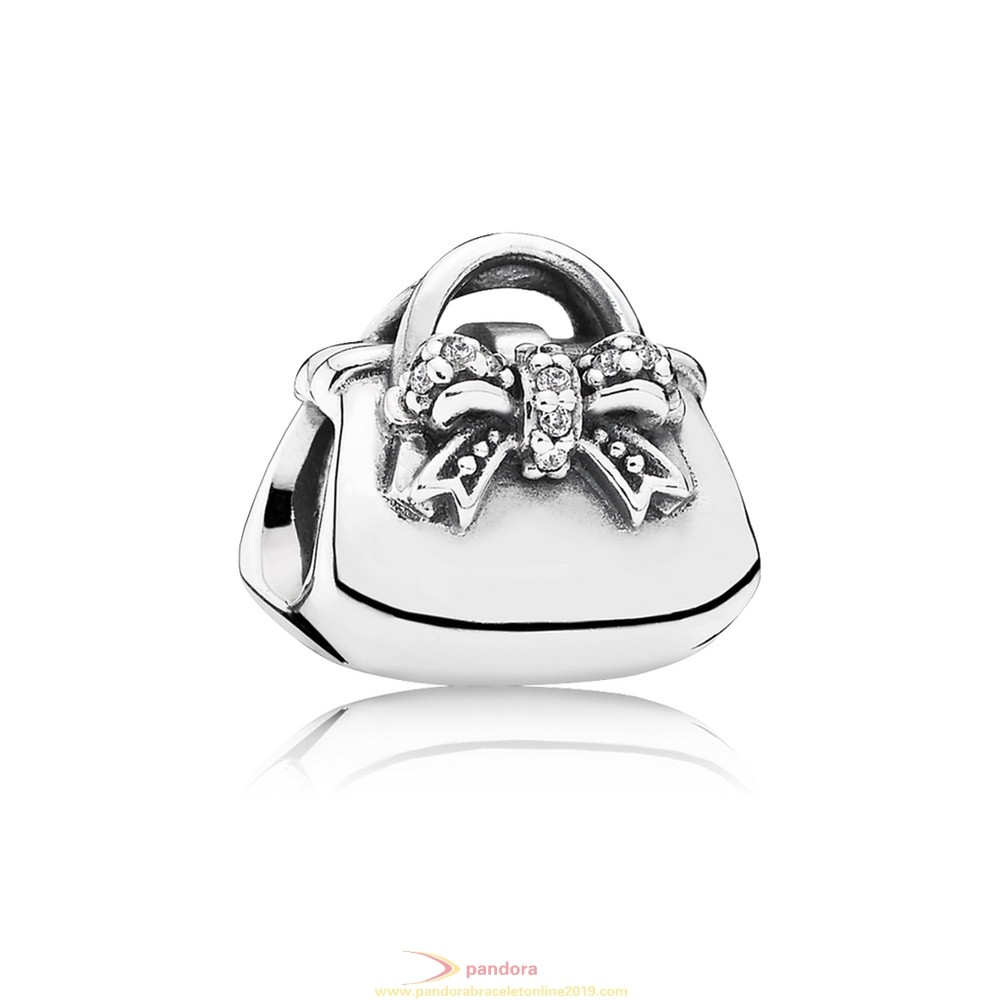 Find Pandora Jewelry Pandora Passions Charms Chic Glamour Sparkling Handbag Charm Clear Cz