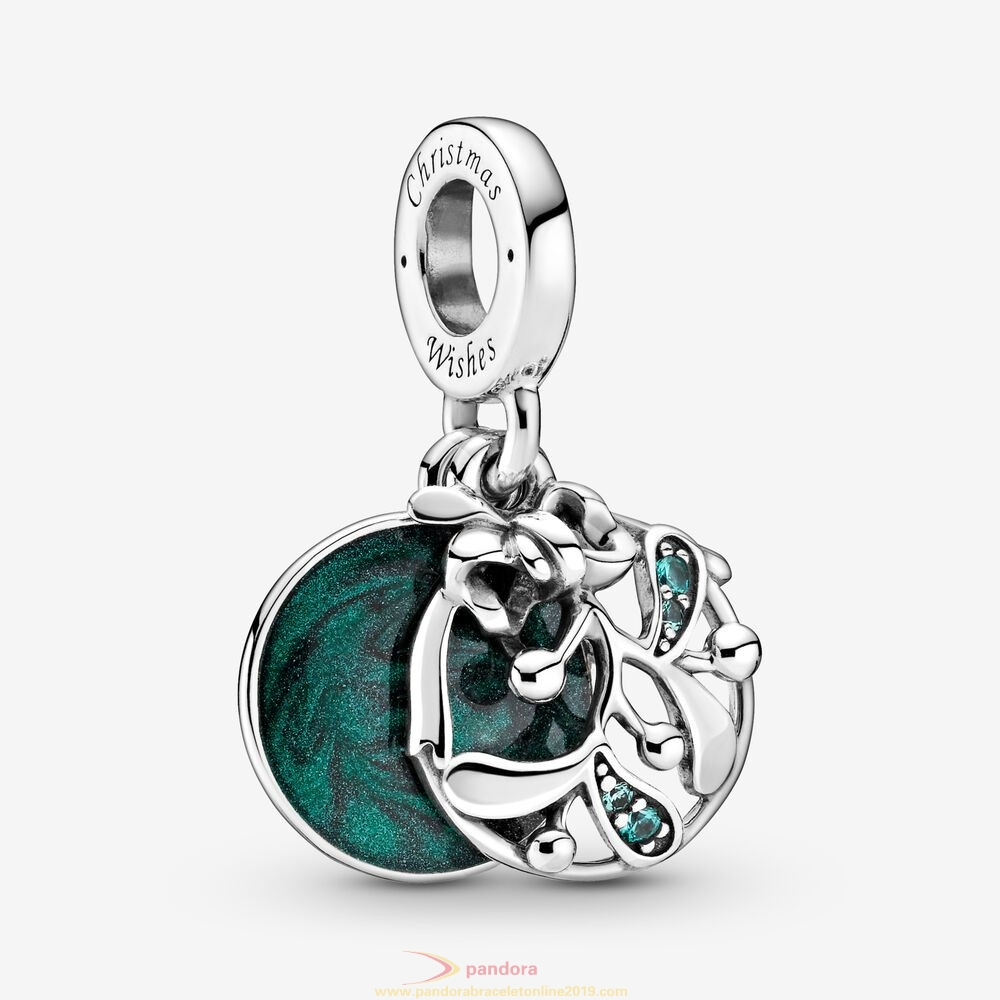 Find Pandora Jewelry Christmas Mistletoe Dangle Charm