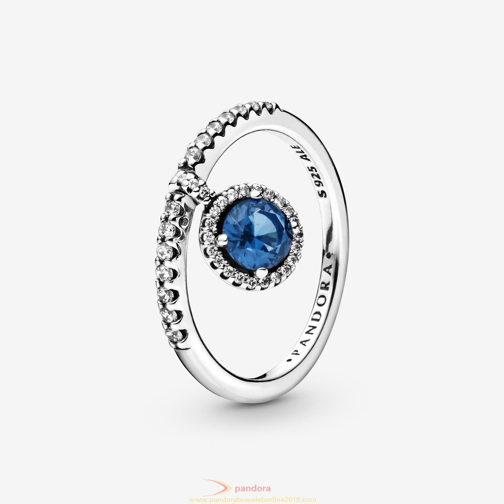 Find Pandora Jewelry Dangling Blue Round Sparkle Ring