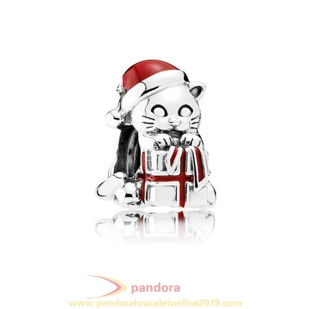 Find Pandora Jewelry Pandora Holidays Charms Christmas Christmas Kitten Charm Berry Red Enamel