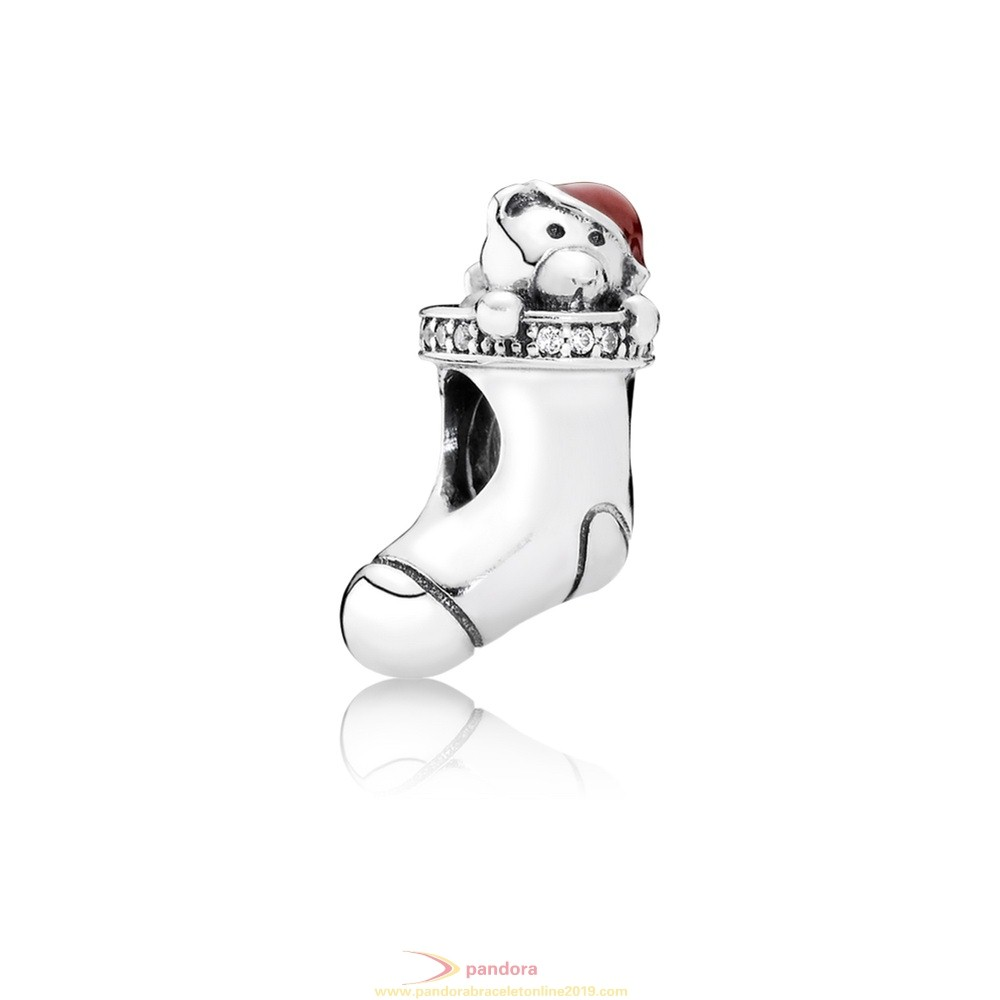 Find Pandora Jewelry Pandora Holidays Charms Christmas Christmas Stocking Charm Red Enamel Clear Cz