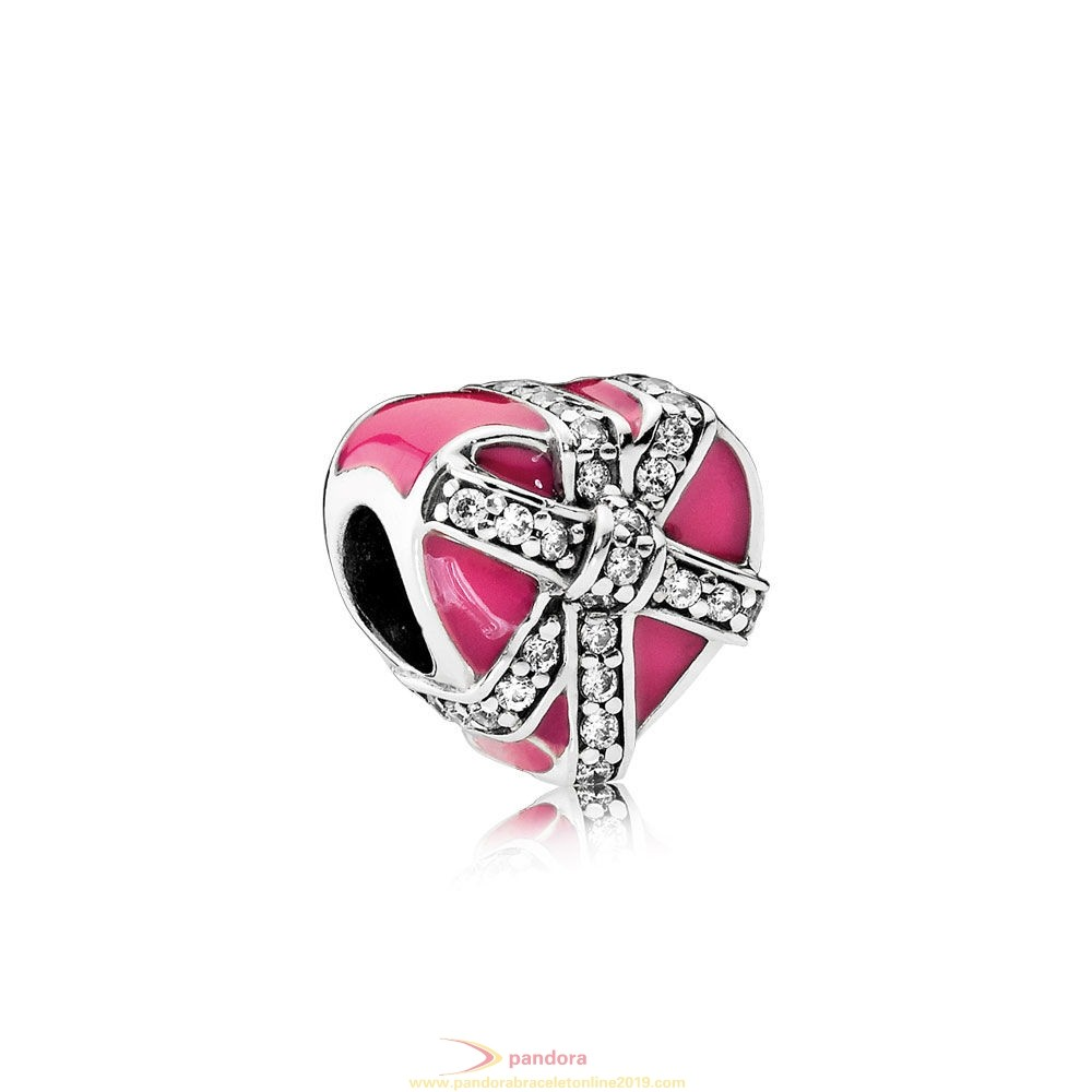 Find Pandora Jewelry Pandora Holidays Charms Christmas Gifts Of Love Magenta Enamel Clear Cz
