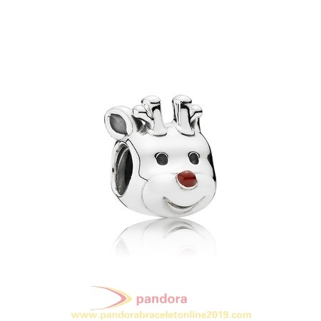 Find Pandora Jewelry Pandora Holidays Charms Christmas Red Nosed Reindeer Charm Red Enamel