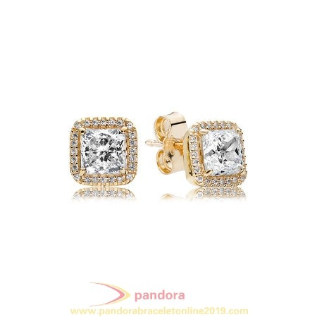 Find Pandora Jewelry Pandora Holidays Charms Christmas Timeless Elegance Stud Earrings 14K Gold Clear Cz