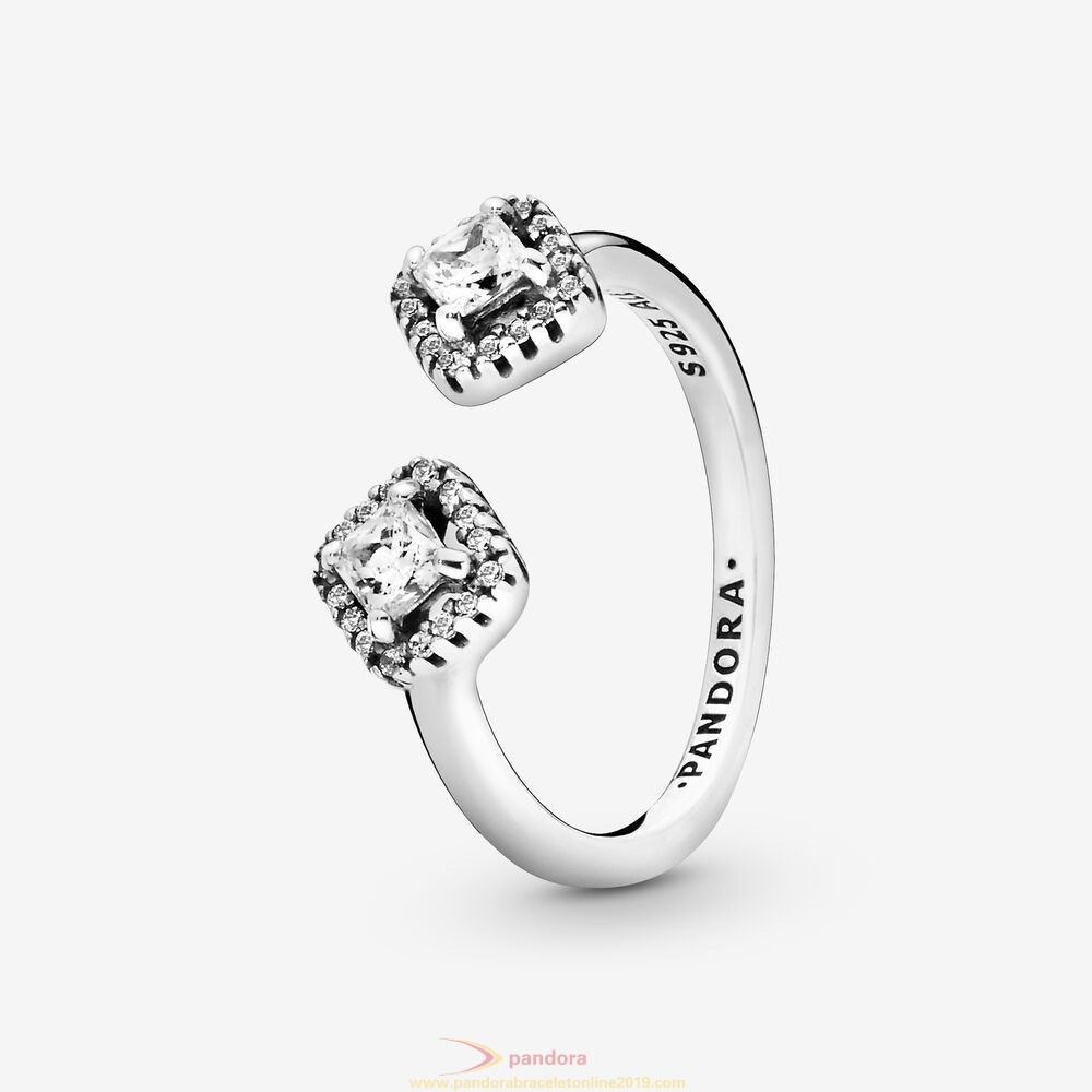 Find Pandora Jewelry Square Sparkle Open Ring