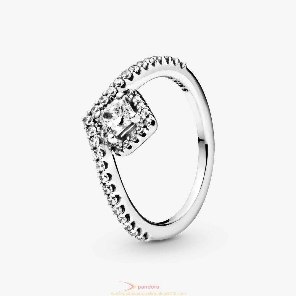 Find Pandora Jewelry Square Sparkle Wishbone Ring