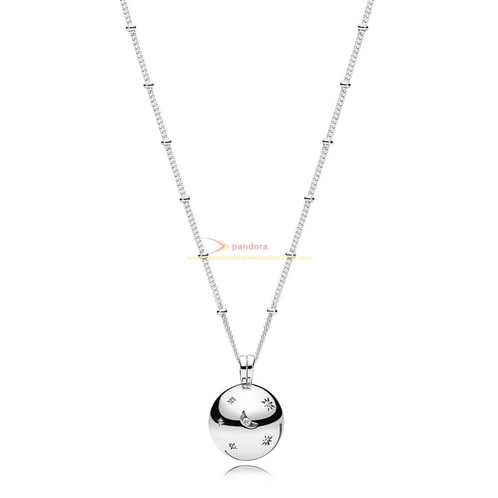 Find Pandora Jewelry Stars and Moon Necklace
