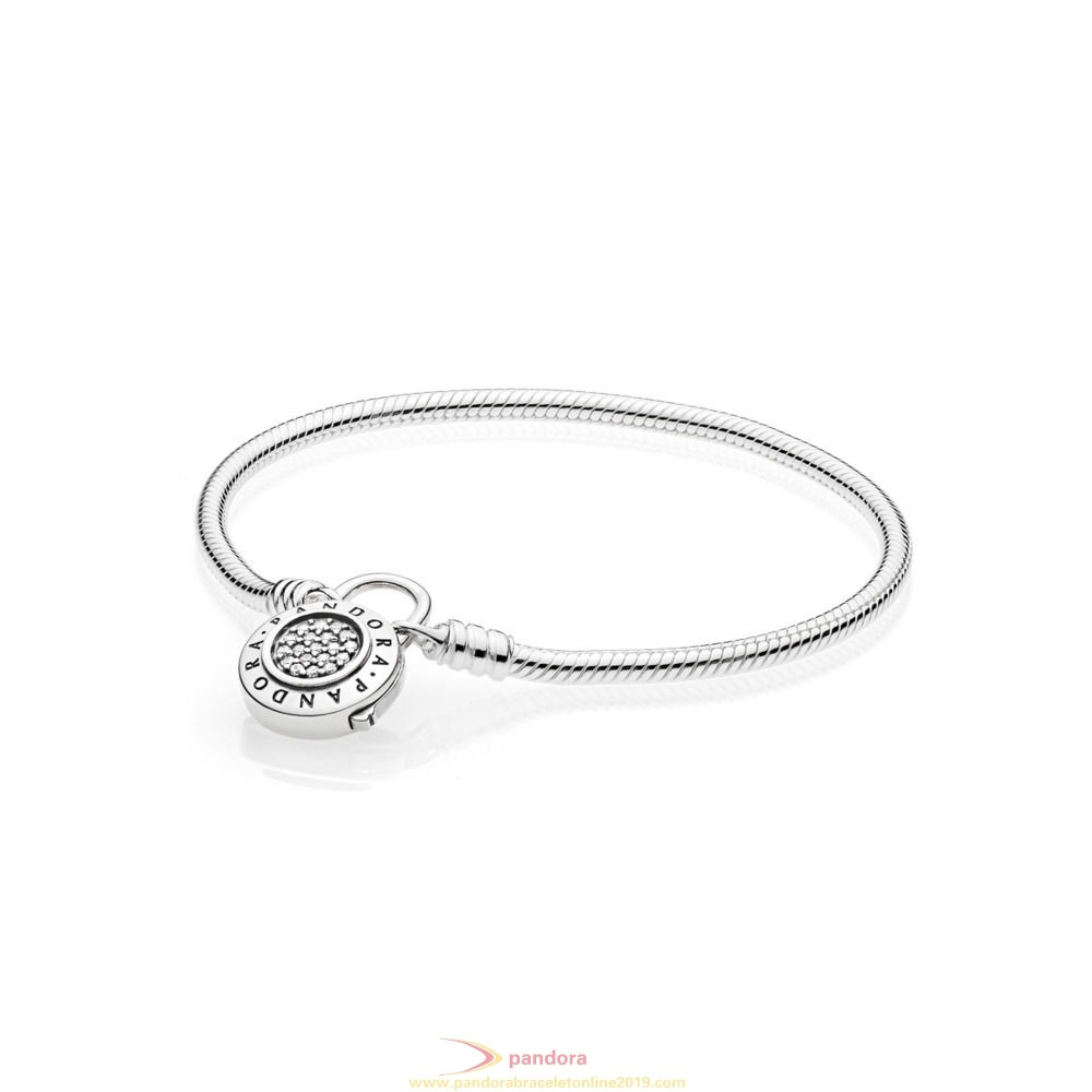 Find Pandora Jewelry Moments Smooth Bracelet With Pandora Signature Padlock
