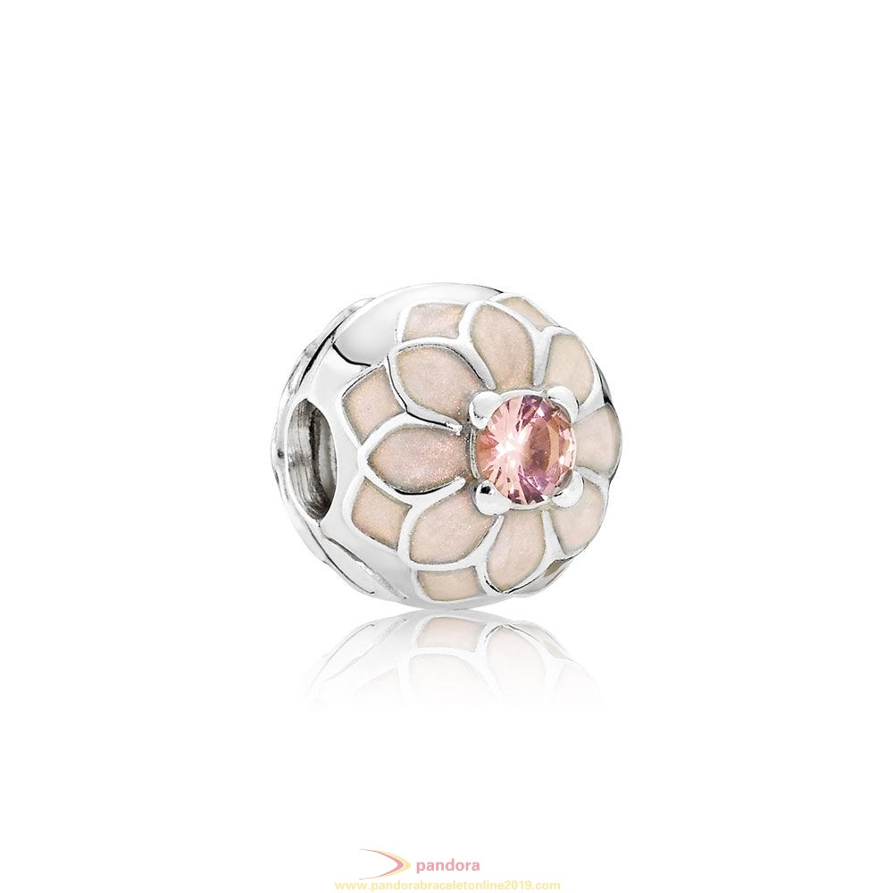 Find Pandora Jewelry Pandora Clips Charms Blooming Dahlia Clip Cream Enamel Blush Pink Crystal