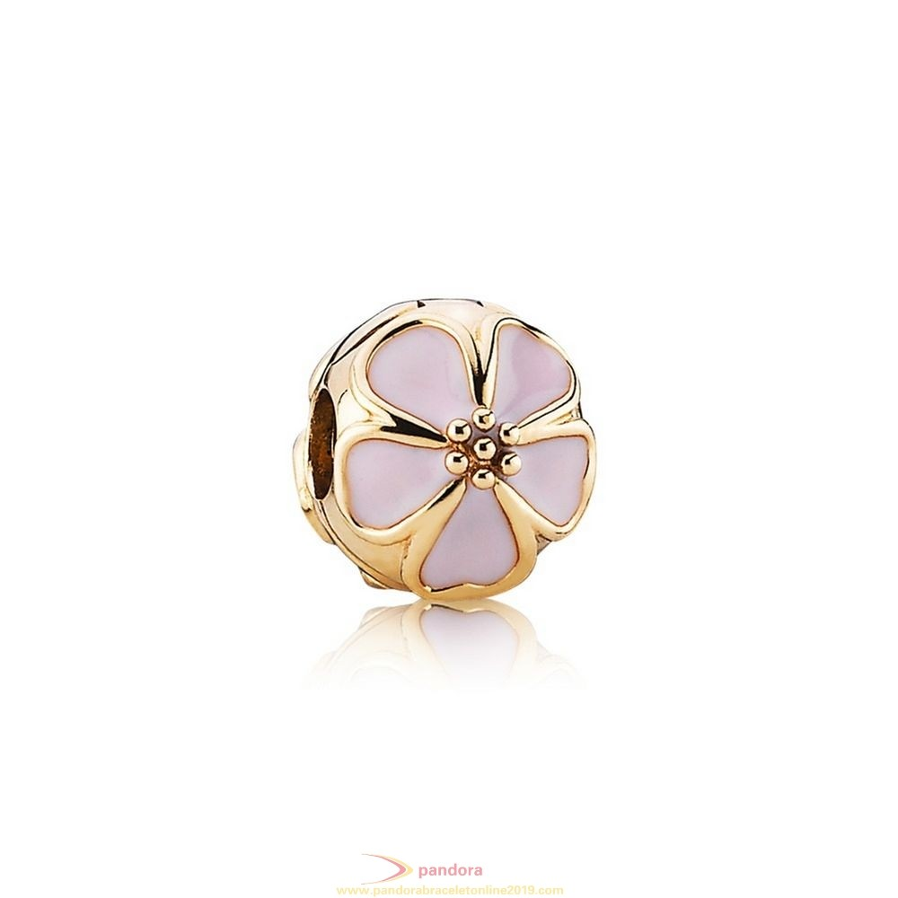 Find Pandora Jewelry Pandora Clips Charms Cherry Blossom Clip Charm Pink Enamel 14K Gold