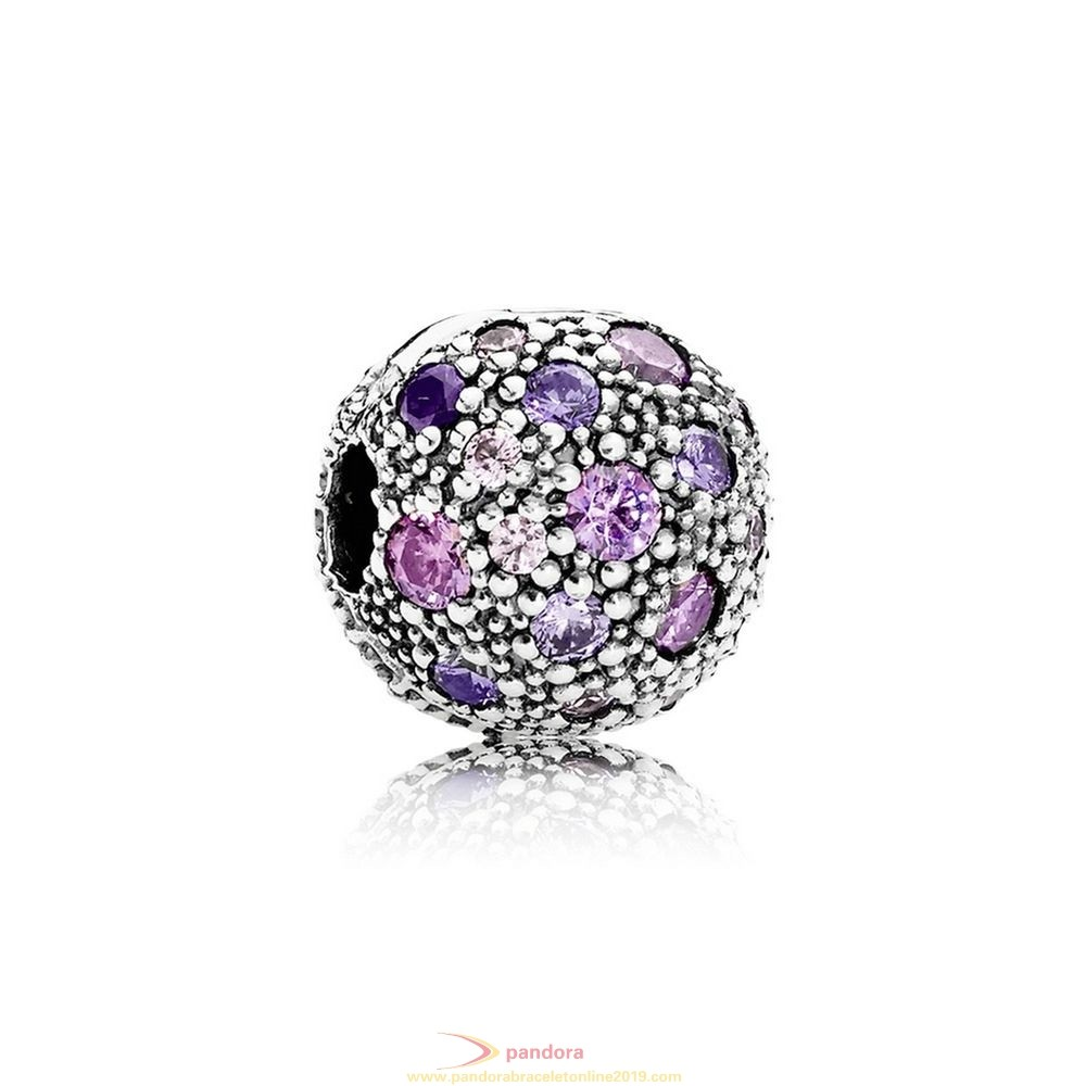 Find Pandora Jewelry Pandora Clips Charms Cosmic Stars Clip Violet Pink Cz