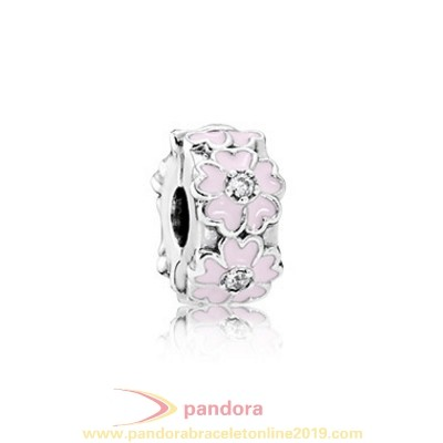 Find Pandora Jewelry Pandora Clips Charms Pink Primrose Clip Light Pink Enamel Clear Cz