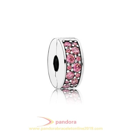 Find Pandora Jewelry Pandora Clips Charms Shining Elegance Clip Honeysuckle Pink Cz