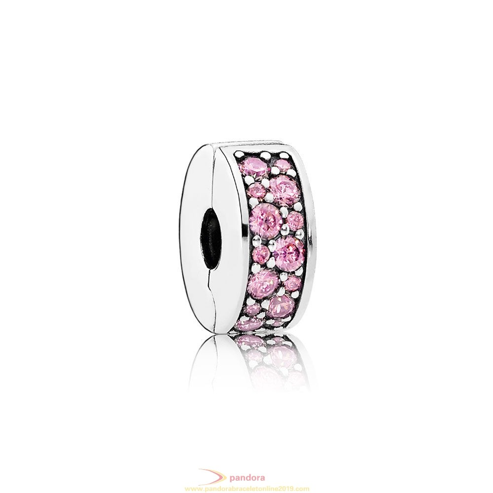Find Pandora Jewelry Pandora Clips Charms Shining Elegance Clip Pink Cz