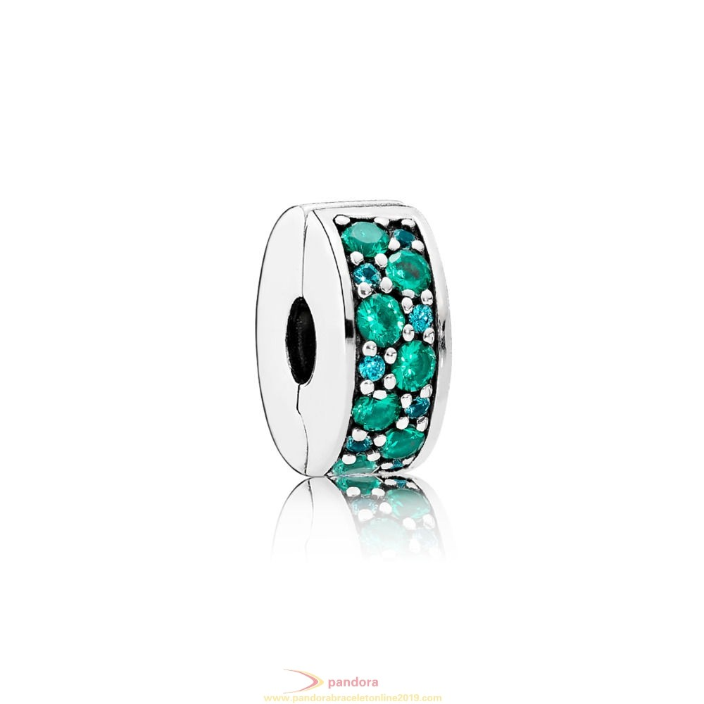 Find Pandora Jewelry Pandora Clips Charms Shining Elegance Clip Teal Cz