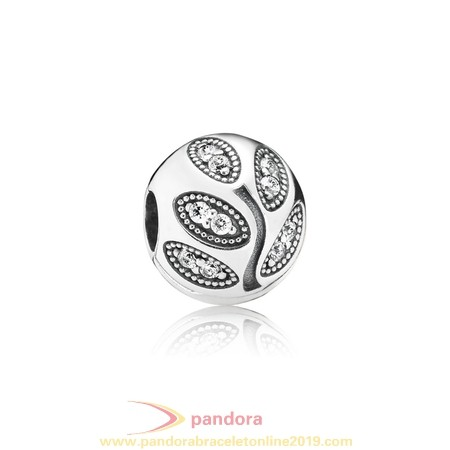 Find Pandora Jewelry Pandora Clips Charms Sparkling Leaves Clip Clear Cz