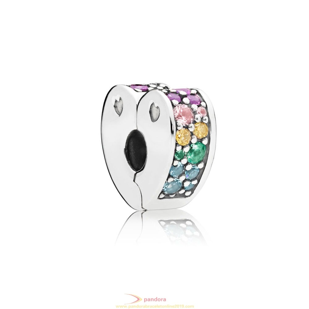 Find Pandora Jewelry Rainbow Arcs Of Love Spacer Clip
