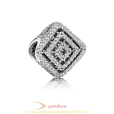 Find Pandora Jewelry Pandora Contemporary Charms Geometric Lines Charm Clear Cz